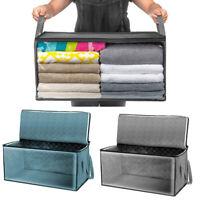2Pcs Large Foldable Storage Bag Clothes Blanket Quilt Closet Organizer Box Pouch