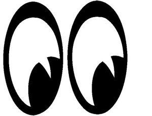 Large Pair of eyes looking Shop Car Laptop Vinyl wall  Decal Sticker