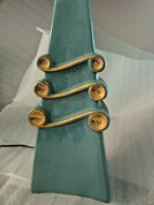 FABULOUS VINTAGE LARGE ART DECO GREEN TABLE LAMP