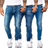 Jeans Hosen Herren Jeans Stretch Jeanshosen Slim Fit Blau Pants Männerhose Basic