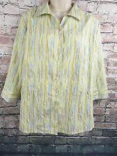 97c235a2eb3 Alia Women s Blouse Petite 14P Button Front 3 4 Sleeve Shirt top