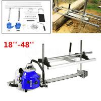 Mobil Tragbar Sägewerk Holz Sägehilfe für 18 '' bis 48 '' Kettensäge   *