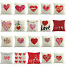 Love Heart Lip Pillow Case Waist Throw Cotton Cushion Cover Home Decor Seraphi