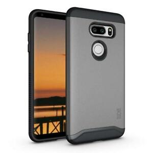 LG V35 ThinQ, TUDIA Slim-Fit MERGE Dual Layer Protective Cover Case
