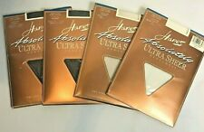 Pantyhose Size F Ultra Sheer Lot 4 Hanes Barely Black Pearl Buff Control Top