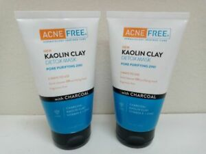 Acne Free®  2 in 1 Kaolin Clay Detox Mask & Daily Cleanser, 5 Ounce (2 Pack)
