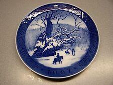 Vintage Royal Copenhagen 1967 Christmas Collector Plate - The Royal Oak - Nice!