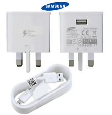 100% GENUINE FAST CHARGER PLUG & CABLE FOR SAMSUNG GALAXY S7 S6 EDGE NOTE 4 5