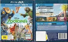 Zootopia 3D Blu-Ray + Blu-Ray + Digital HD Copy Plus Brand New