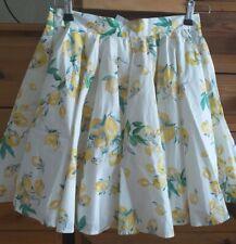 Ladies H&M Lemon Print Full Skirt. Size 10. BNWT.