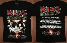 KISS Fire Logo,Kissworld Tour 2017 New Official Licensed Authentic Tour T-Shirt