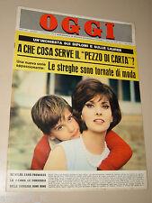 OGGI=1965/7=GINA LOLLOBRIGIDA COPERTINA RIVSTA COVER MAGAZINE=VITTORIA NEGRI=