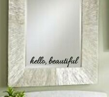 Hello Beautiful, Mirror Decal, Vinyl decal, Inspirational decal, Bathroom decal,