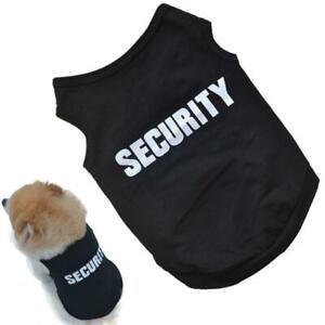 SECURITY Black Dog Sweatshirt Hoodie - Dog Sweater - Dog Jumper - Dog Clothing