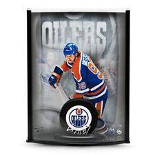 bc0b8e96a39 Wayne Gretzky Signed Autographed NHL Puck 8X10 Photo Display Oilers /99 UDA  COA