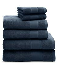 NEW! Ralph Lauren Sanders Club Navy 6 Pc Bath & Hand Towel & Washcloth Set
