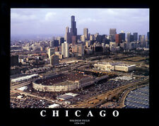 Chicago Bears OLD SOLDIER FIELD Football Gameday Aerial View Poster Print