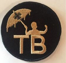 "TOM BENSON PATCH NEW ORLEANS SAINTS 3.5"" EMBROIDERED SUPER BOWL MEMORIAL LOGO"