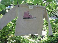 SEED BABY Size 3-6 months Long Sleeve Baseball Converse Boot TShirt