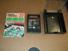 """1980 PHILIPS VIDEOPAC """"ELECTRONIC TABLE FOOTBALL"""" FOOSBALL VIDEO CARTRIDGE NO.27"""
