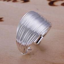 Silver Elegant Multi-line Ring in Gift Box, Adjustable Size