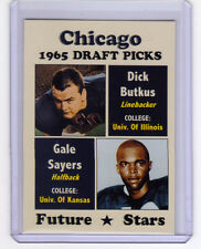 Chicago Bears '65 Draft Picks Dick Butkus / Gale Sayers - Hall Of Fame rookies