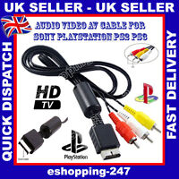 New Black 3M Audio Video AV Cable for Sony Playstation PS2 PS3 PS COMPATIBLE