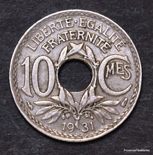 10 centimes cts LINDAUER 1931 FRANCE fr47