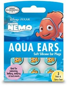 Childrens Ear Plugs - Finding Nemo Aqua Ears 3 Pairs x 2 Packs £11