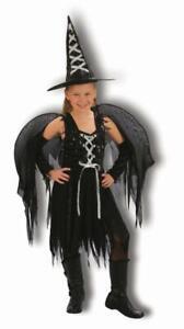 Funstars Girls Winged Witch Fancy Dress Costume Girls Age 7-10  H 120cm -130cm