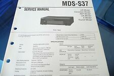 Service Manual Instructions for Sony MDS-S37, Original