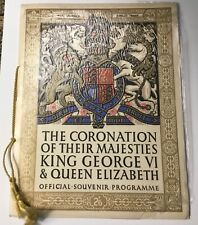 Coronation of their Majesties King George VI and Queen Elizabeth Programme 1937.