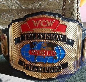 WCW TBS World TELEVISION Wrestling Championship Belt.Adult Size. (4mm Zinc)