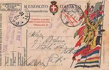 Storia postale - Italia Regno 1918 - Cartolina postale franchigia zona guerra