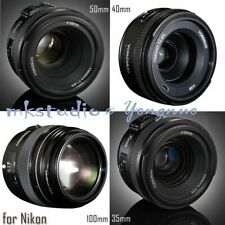 Yongnuo YN 100mm 50mm 40mm 35mm EF MF / AF Prime Fixed Lens for Nikon D800 D90