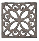 Decorative Trivet Square Cast Iron Hot Pad Kitchen Decor