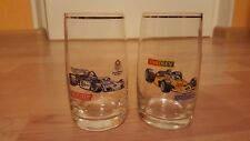 2 Vintage Logo Formula 1 Race Car Racing GLASSES.BOHEMIA