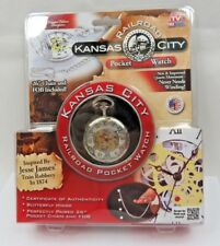 NIB Kansas City Railroad Pocket Watch Collectible AS SEEN ON TV Jesse James
