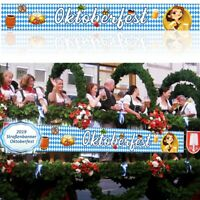 Oktoberfest Banner 300 x 40 cm Straßenbanner Bayern Flagge Deko Party Fahne