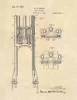Harley Davidson Springer Suspension Patent Art Print - Triple Tree Vintage - 610