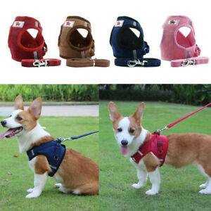 Dog Cat Harness with Leash Adjustable Walking Breathable Pet Puppy Vest Xs To Xl