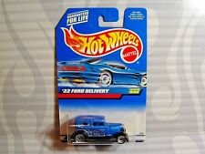 1999 HOT WHEELS  collector #996 = `32 FORD DELIVERY = BLUE , 0910