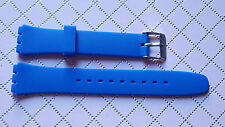 BRACELET MONTRE PVC silicone BLEU pour MONTRE SWATCH   17  /  18mm /// ref SF23