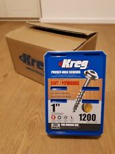 kreg pocket hole screws 4 boxes of 1200