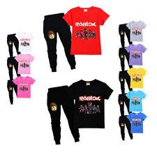 Kinder ROBLOX Kurzarm Sportanzug Jungen Mädchen T-Shirt Hose Shirt Modeanzug