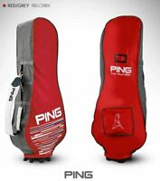 2021 Ping Premium Fabric Travel Golf Bag Cover Red Hood Case Flight Rain Carry_U