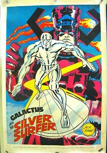 SILVER SURFER POSTER MARVELMANIA Jack Kirby Art 1970 35 x 23 inches: High Grade.