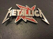 Metallica Musique Rock Band Boucle de ceinture nouveau métal étain avec Red Ninja Star Logo