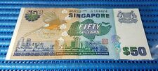 """Singapore Bird Series $50 Note A/88 164424 Prefix """"88"""" Dollar Banknote Currency"""