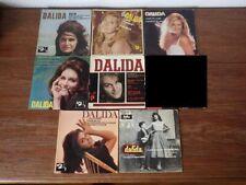 7x  disques anciens 45 tours RPM DALIDA années 60 et 70 (Lot 3/5)